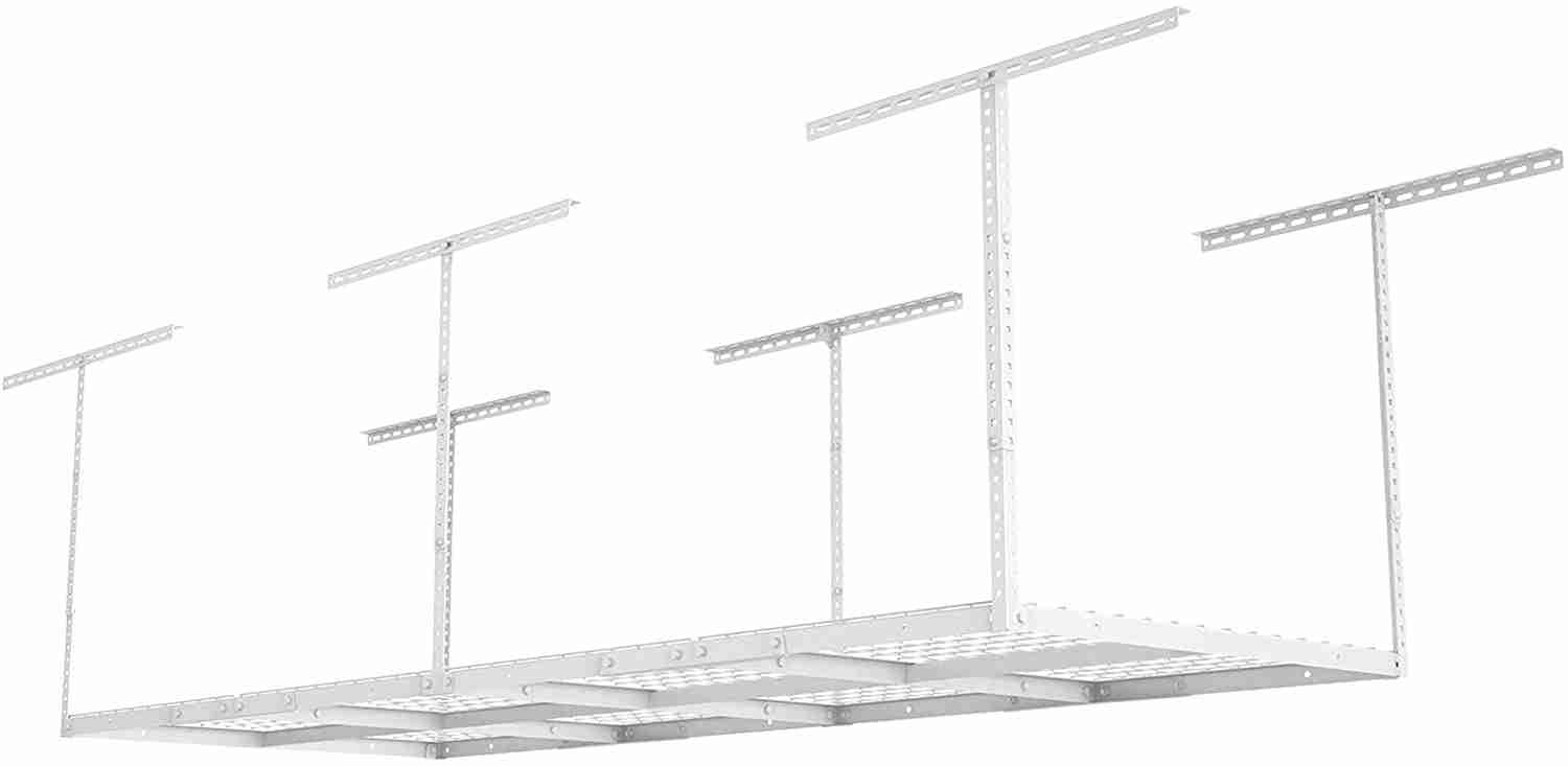 fleximounts 3x8 overhead adjustable ceiling garage storage rack