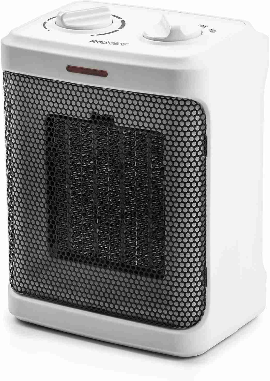 pro breeze space heater white